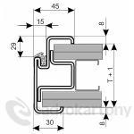 Kooperativa ocelové zárubně ZAKO pro sádrokarton S 75 DV 1600 D