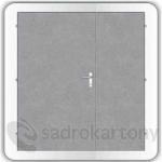 Kooperativa pozinkované ocelové dveře zateplené typ 86 - 1600/1970/DL800