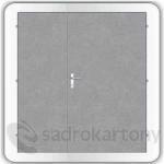Kooperativa pozinkované ocelové dveře zateplené typ 86 - 2400/2400/DP1200