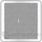 Kooperativa protipožární dveře ocelové typ 89 - EW60/EI45 DP1 2400/2100/DL1200